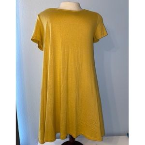 Mustard Yellow Flowy Dress